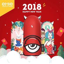 EMIE Portable Charger, 6700mAh Compact cute Power Bank , 2.1A Fast Charging USB Charger with LED Ears, for iPhone6 7 8s ,Samsung