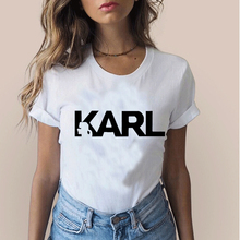 Karl Lagerfeld print T-shirt Unisex punk 2019 Vogue Short Sleeve friends Leisure T Shirts Harajuku Tumblr Who Tshirt clothe