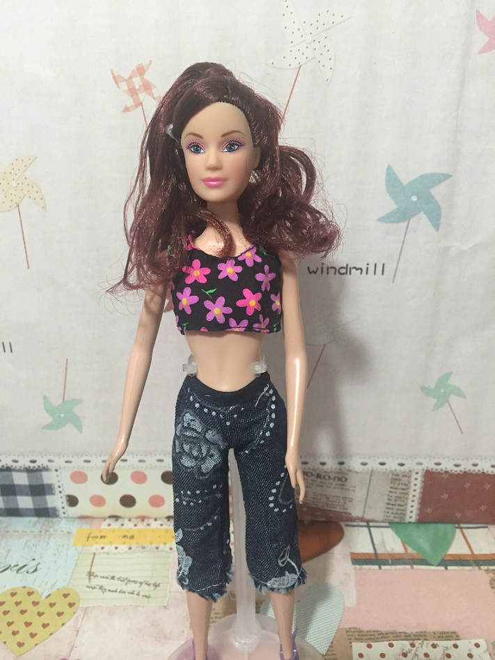 Real for Barbie doll garments informal sportswear attire in Europe and America British literary trend attire Dressup