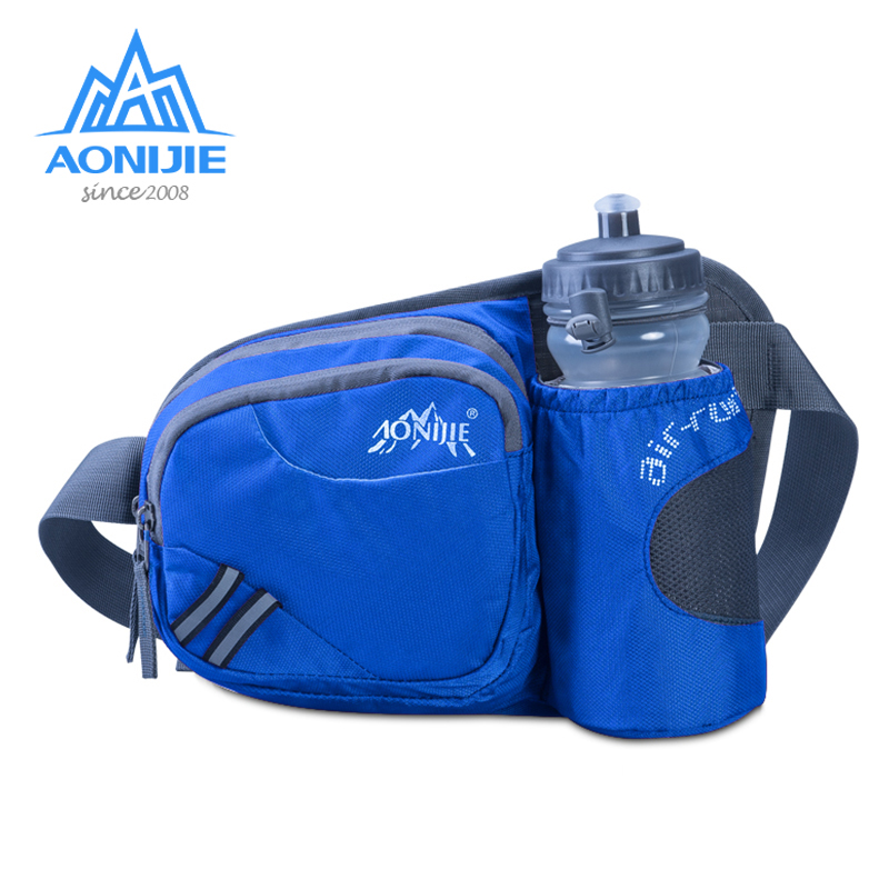AONIJIE Running Marathon Waist Bag Sports Climbing Hiking Race Fitness Lightweight Hydration Belt Water Bottle Hip Waist Pack