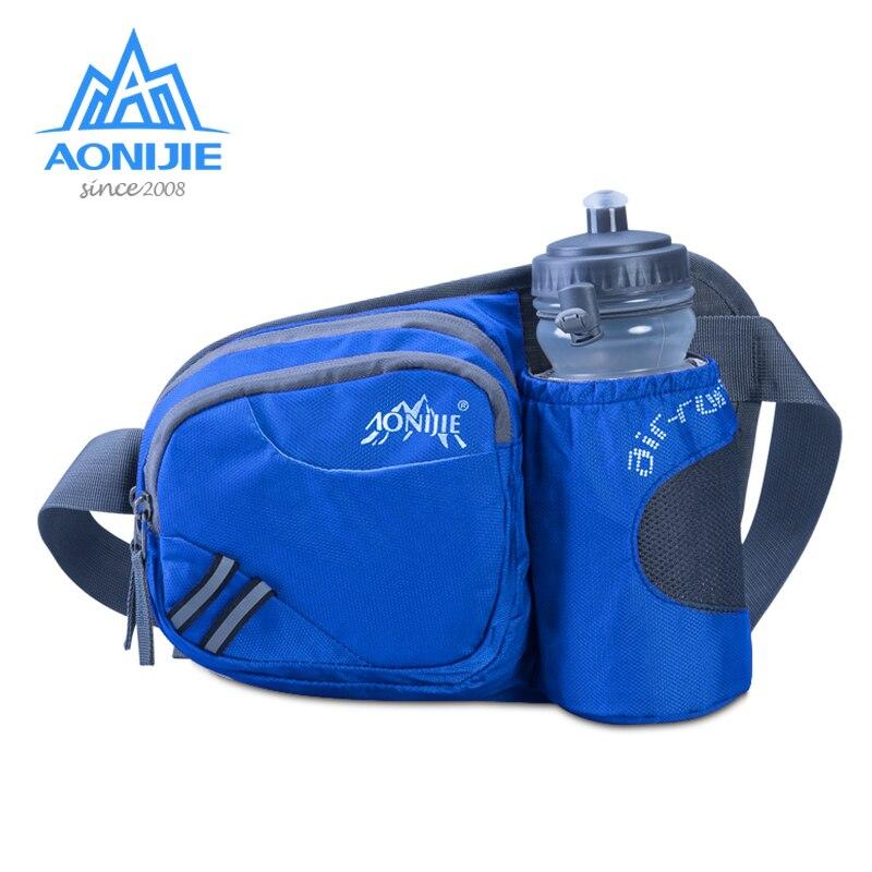 AONIJIE Running Marathon Waist Bag Sports Climbing Hiking Race Fitness Lightweight Hydration Belt Water Bottle Hip Waist Pack