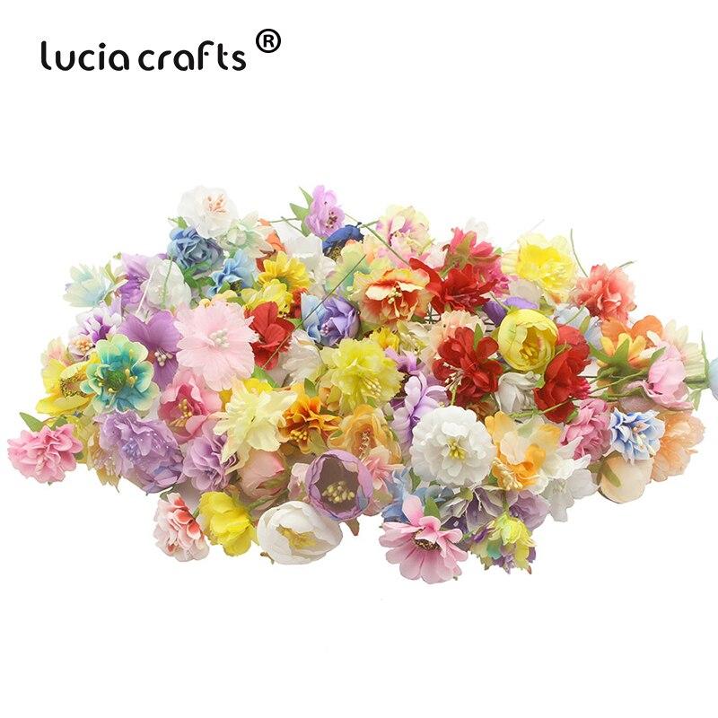 20 Bundles/lot (20heads) Random Color Artificial Silk Flowers Fake Rose Peony DIY Home Party Spring Wedding Decoration A0304
