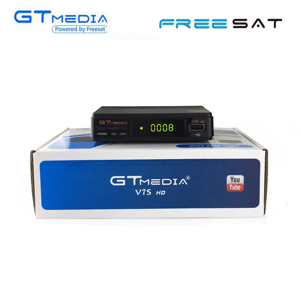 Gtmedia V7S HD DVB-S2 Receptor Digitale TV Box Tuner Satellietontvanger PowerVu Biss cline Decoder USB WiFi Youtube Door freesat v7
