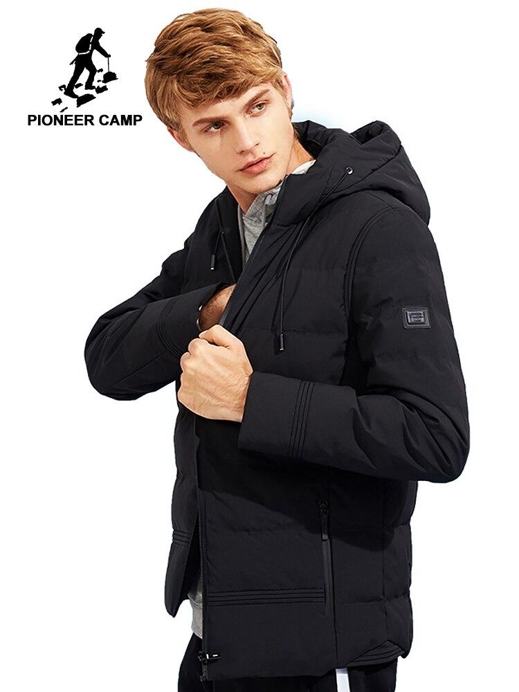 Пионерский лагерь новая толстая зимняя куртка мужская брендовая одежда с капюшоном теплая куртка мужская наивысшего качества черные однот...