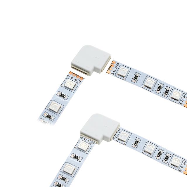 Led Strip Connectors 2pin / 4pin  8mm / 10mm Easy install Strip Connectors 5pcs/lot