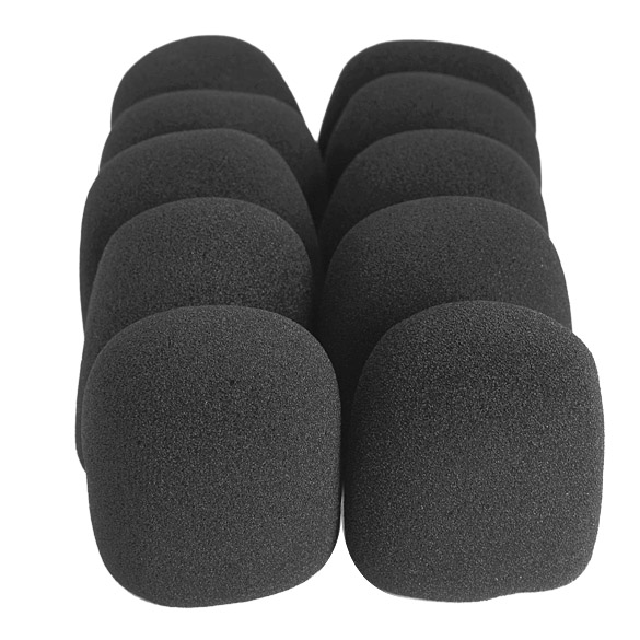 Newly 10 Pcs/Set Microphone Grill Foam Cover Audio Mic Shield Sponge Cap Holder DC128
