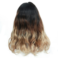 1b/4/27 Three Tone Ombre Colored Wig 250% Brazilian Body Wave Lace Front Human Hair Wigs With Baby Hair Remy Dolago 4x4