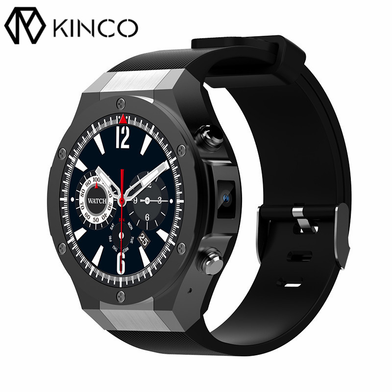 KINCO MTK6580 1G+16G 3G SIM Camera 1.40 Inch Screen Weather GPS Bluetooth Heart Rate Monitor Smart Watch Phone for IOS/Android ювелирное изделие 124268