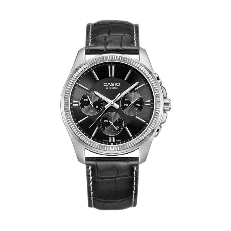 Casio นาฬิกาควอตซ์ผู้ชายนาฬิกา MTP 1375L 1A-ใน นาฬิกาควอตซ์ จาก นาฬิกาข้อมือ บน   1