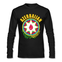 Hombre Yuvarlak Boyun Azerbaycan kaplayın silah Yenilik t shirt 2017 Moda Tam T Shirt Erkek Ucuz Komik T Shirt