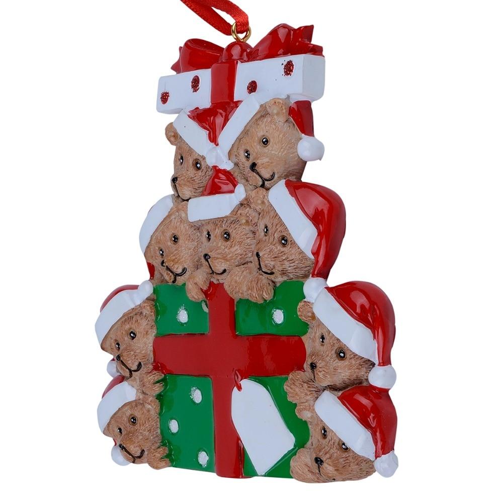 Großhandel Harz Bär Familie Von 9 Weihnachten Ornament ...
