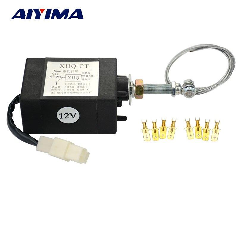 AIYIMA 1 pcs Moteur Diesel Flame Out Dispositif D'arrêt Du Moteur Solénoïde XHQ-PT 12 V