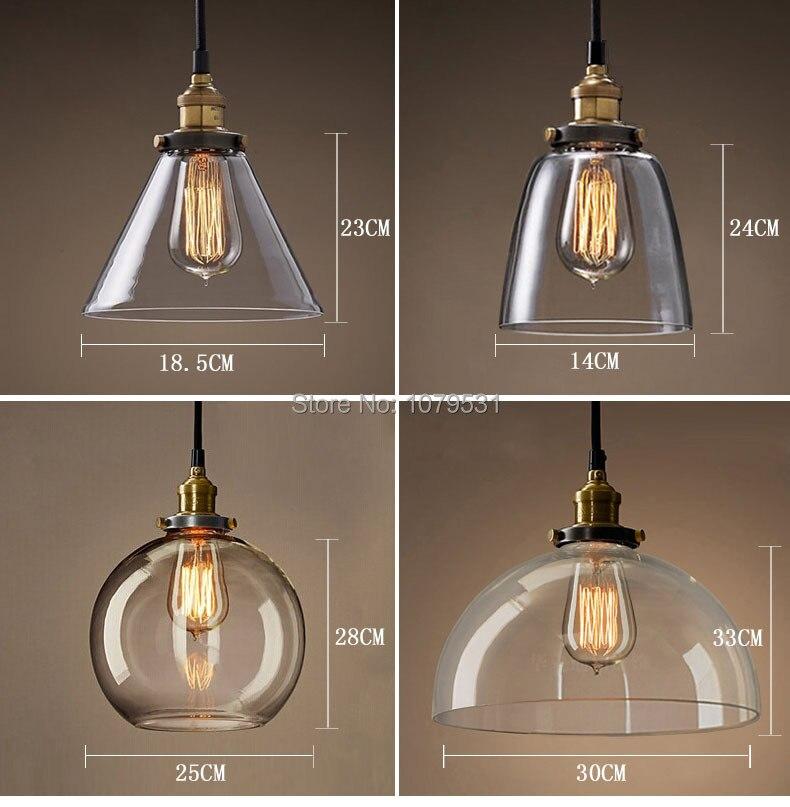 ФОТО 20 Types vintage pendant light copper/silver glass hanging lamp E27 110/220V pendant lamp for home restaurant luminarias abajour