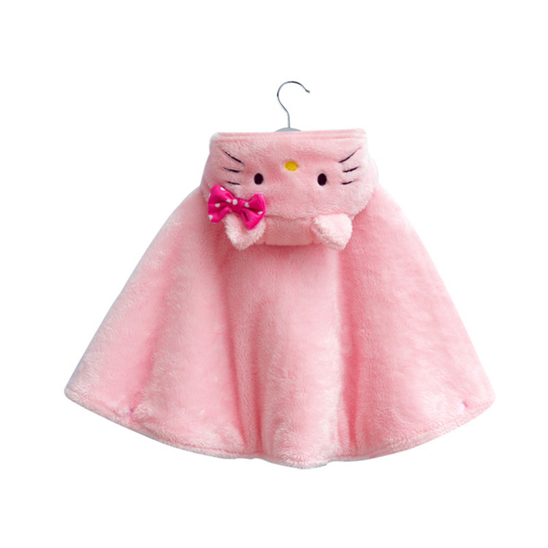 2017 Fashion Combi Baby Coats boys Girls Smocks Outwear Fleece+Warm Cotton cloak Jumpers mantle Childrens clothing Poncho Cape