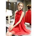 M-XL  Red Summer Pregnant Clothes Maternity Clothing Women Maternity Dress   Chiffon Casual  Lace Clothes For Pregnant Women