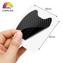 4pcs/lot Car Handle Protection Film Universal Invisible Carbon fiber Door Stickers Scratches Resistant Sticker