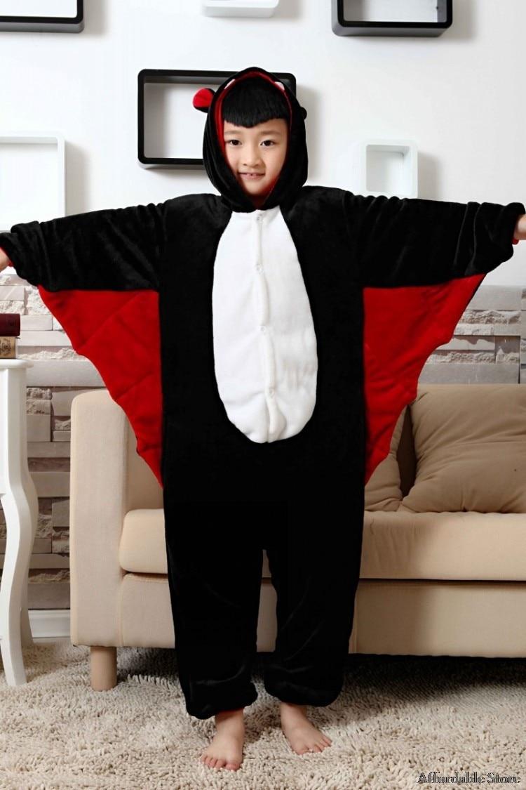 Flannel animal bat conjoined long sleeve cartoon home service parent-child autumn and winter plush children toilet version