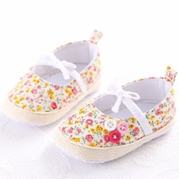 2016 Newest Sweet Newborn Baby Girls Flower Shoes Toddler Soft Bottom Kids Crib First Walkers Pink