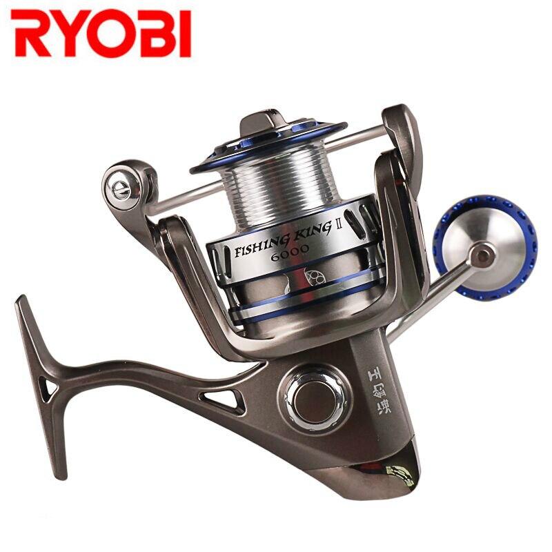 RYOBI 1000-8000 Spinning Fishing Reel 6+1BB 5.0:1/5.1:1 Spinning Wheel Moulinet Peche Carretilhas De Pescaria Carp Fishing Coil ryobi kreger 1000