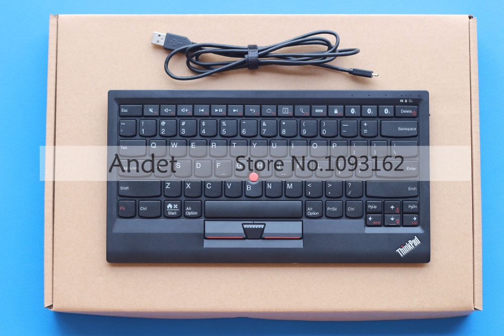 New Original Lenovo ThinkPad Bluetooth Keyboard Support Window Android IOS Multi Connect with Trackpoint US English 4X30K12182 new original us english keyboard thinkpad edge e420 e420s e425 e320 e325 for lenovo laptop fru 63y0213 04w0800