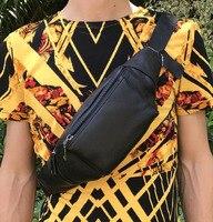 New Men's Genuine Leather Cowhide Fanny Waist Bag Fashion Travel Shoulder Messenger Bag Sling Chest Bag