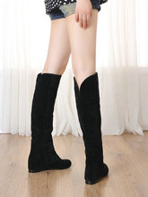 Women's Boots 2014 Autumn winter New fashion ladies sexy over the Knee boots high-leg long boots thick heels Tall Thigh boots
