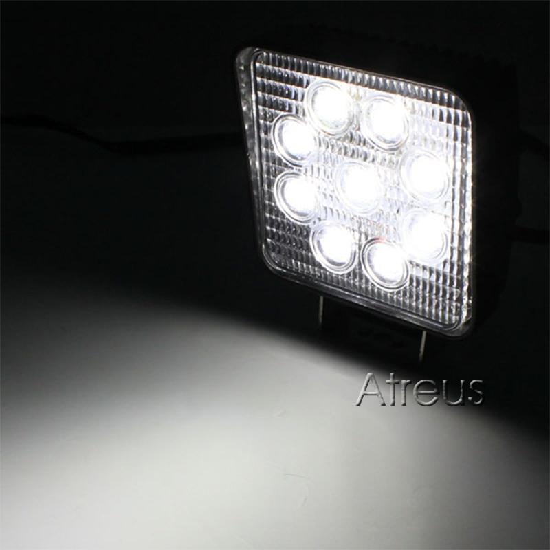 Atreus 10Pcs 4Inch 27W yüksək güclü 9X 3W kvadrat işıq - Avtomobil işıqları - Fotoqrafiya 6
