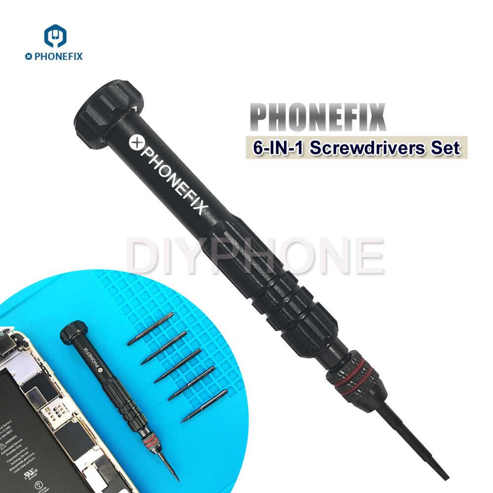 7ed5f4c036303 PHONEFIX 6 в 1 индивидуальные Магнитная отвёртки комплект Professional  Ручные Инструменты Набор для iPhone 6 6S