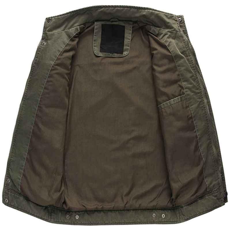 Новые мужские погон военных куртка высокое качество multi-карман Стенд воротник большой Размеры верхняя одежда одноцветное Цвет повседневная куртка