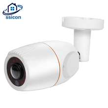 SSICON 4MP CCTV Outdoor Fisheye Camera Night Vision Waterproof Metal housing 1.7mm Lens 180 Degree Camera Bullet With OSD cctv camera metal housing cover new big or small housing small m12 mount