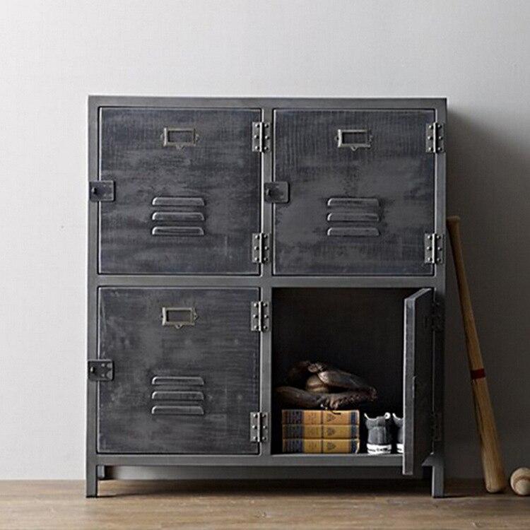 amerikaanse woonkamer eetkamer dressoir huis om de oude metalen locker vintage smeedijzeren. Black Bedroom Furniture Sets. Home Design Ideas
