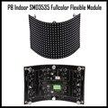 P8 крытый полноцветный гибкий светодиодный модуль 32x16 пикселей 512 точек мягкие панели Высокое качество магнита установки 360 угол дисплей