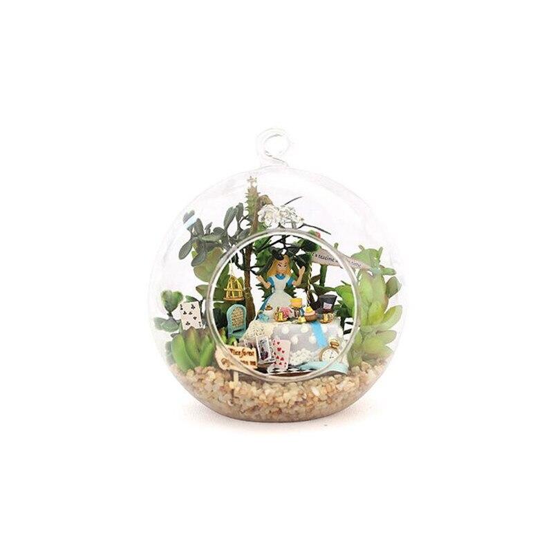 beautiful mini alice dollhouse miniature glass ball diy miniatures wooden doll housefunny diy aliexpresscom buy 112 diy miniature doll house