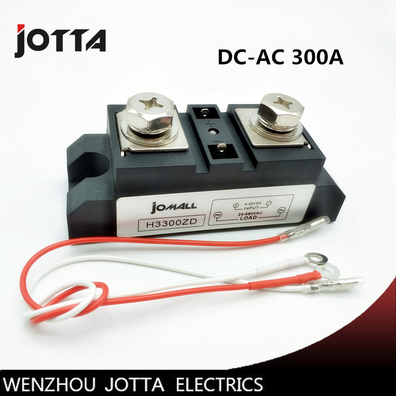 цена на 300A Industrial SSR Solid State Relay 300A Input 4-32VDC Output 24-680VAC