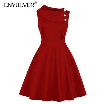 Vestidos casuales rojo con negro