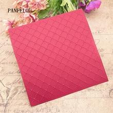 PANFELOU комбинации решетки папки для тиснения пластик для скрапбукинга DIY шаблон помадка торт фотоальбом открыток
