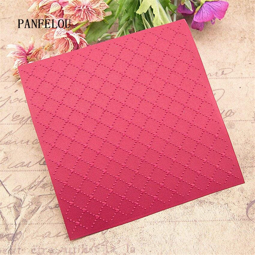 PANFELOU Combination Lattice Embossing Folders Plastic For Scrapbooking DIY Template Fondant Cake Photo Album Card Making