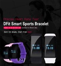 D21สายรัดข้อมือนาฬิกาสมาร์ทS Martbandสร้อยข้อมือPedometerป่าh Eart rate monitorสำหรับA Ndroid IOS