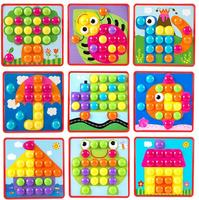 3D Puzzles Toys For Children Composite Picture Puzzle Creative Mosaic Mushroom Nail Kit Educational Toys Kids Toy