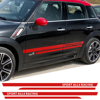Side Skirt Body Car Decals Sticker Racing Sport all4 graphic Vinyl Decal for Mini Cooper Countryman R60 Car Styling Accessories