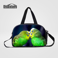Dispalang Women's Travel Duffle Bags Beautiful Parrot Bird Pet Weekend Bag For Teenagers Girls Carry On Luggage Duffle Overnight
