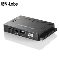 En Labs USB 3.0 to 2.5/3.5SATA /IDE/SSD Converter Adapter Combo w/ Switch, Support 6TB, Include 12V 2A Power Adapter & Cable