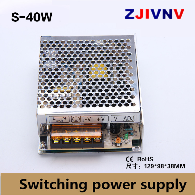 цена на 40w single output switching power supply 5v 8a, 15V 2.6A, 24V 1.66A power supply ac-dc led power supply 12v 3.3A, input 110-220v