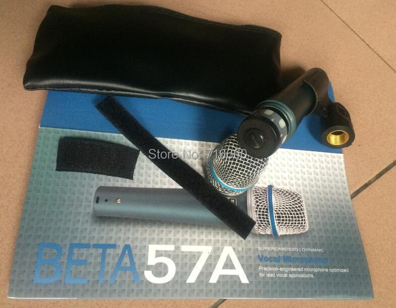 2pcs box High quality Beta 57 A Clear Sound Handheld Wired Karaoke Microphone for Hot selling
