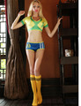 TITIVATE New Sexy Women Shorts and Top Women Sport Suit Fantasy Football Cheerleader Uniform Dance Clothes Erotic Sets Costume