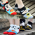 New Women Harajuku Printing Socks Cartoon Superman Batman 3D Summer Socks Cute Kawaii Short Ankle Socks Dog Couple Lovers Gifts