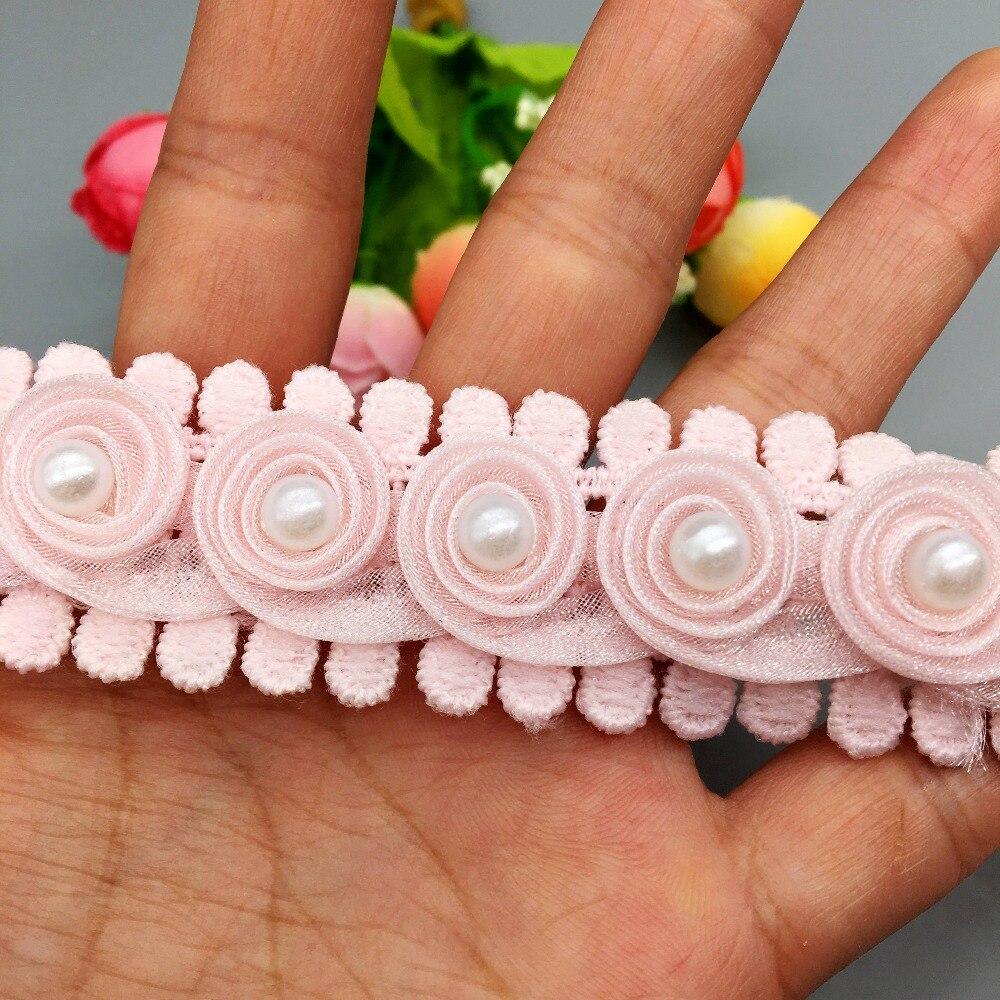 5m //10m Peach STRETCH soft shaped hearts design Lace edging 2.5m