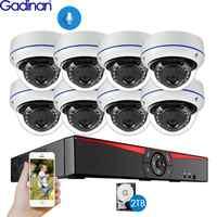 Gadinan 8CH 4MP POE NVR Sicherheit Kamera System Kit H.265 Audio Record IP Kamera IR Dome Outdoor Wasserdicht CCTV Überwachung set