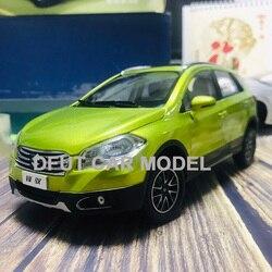 Литая под давлением игрушка из 1:18 сплава с обратной связью SX4 S.CROSS модель автомобиля suv для детских игрушечных автомобилей, оригинальные авт...