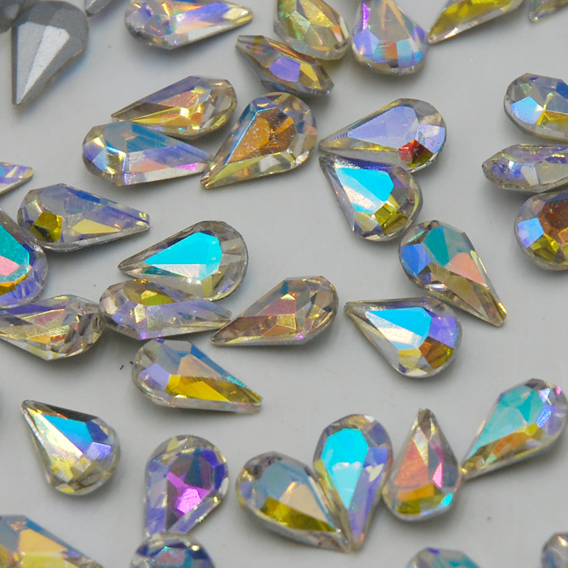 Aliexpress.com   Buy 5x8mm~8x13mm Teardrop Pear Shape Pointed Back Crystal  AB Stones 100pcs Glass Rhinestone Decoration Jewelry Dress Bag Mobile from  ... 0dedd2c66ec2